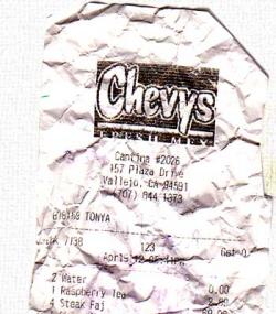 Chevys Bill 2012