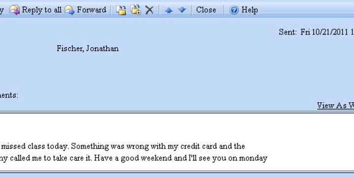 Email Credit Card