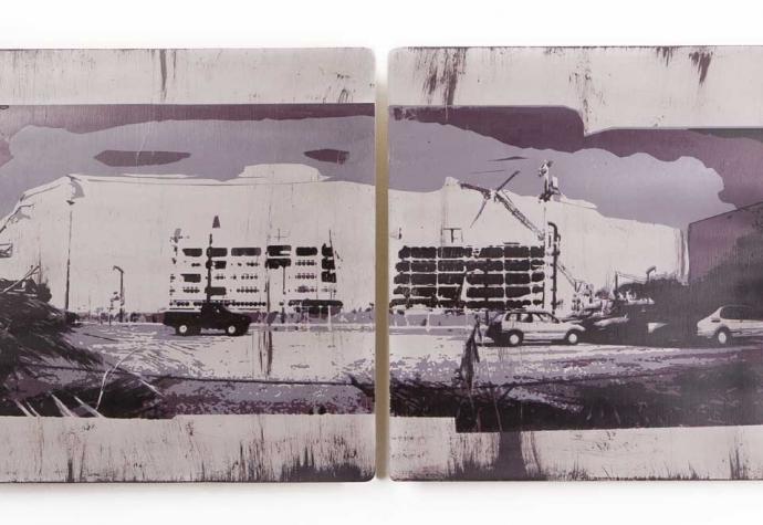 """More"" | Screenprint on Wood | 48 x 24 inches | 2010"