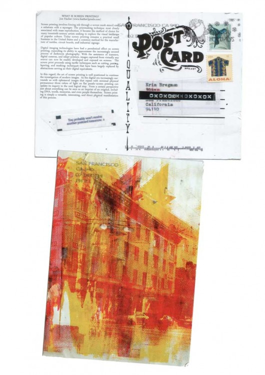 What is screen printing postcard