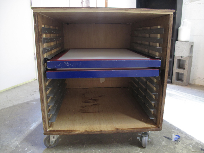 Homemade Screen Drying Cabinet Plans ~ Screen print drying cabinet diy cabinets matttroy