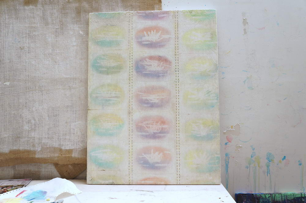 process image 2: oil pastel drawings