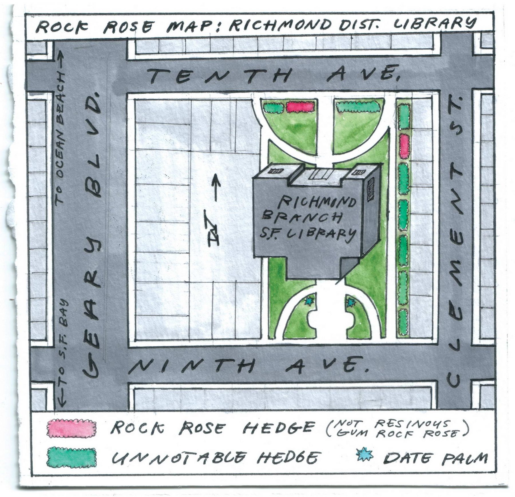 Rock Rose Map: Richmond Branch Library