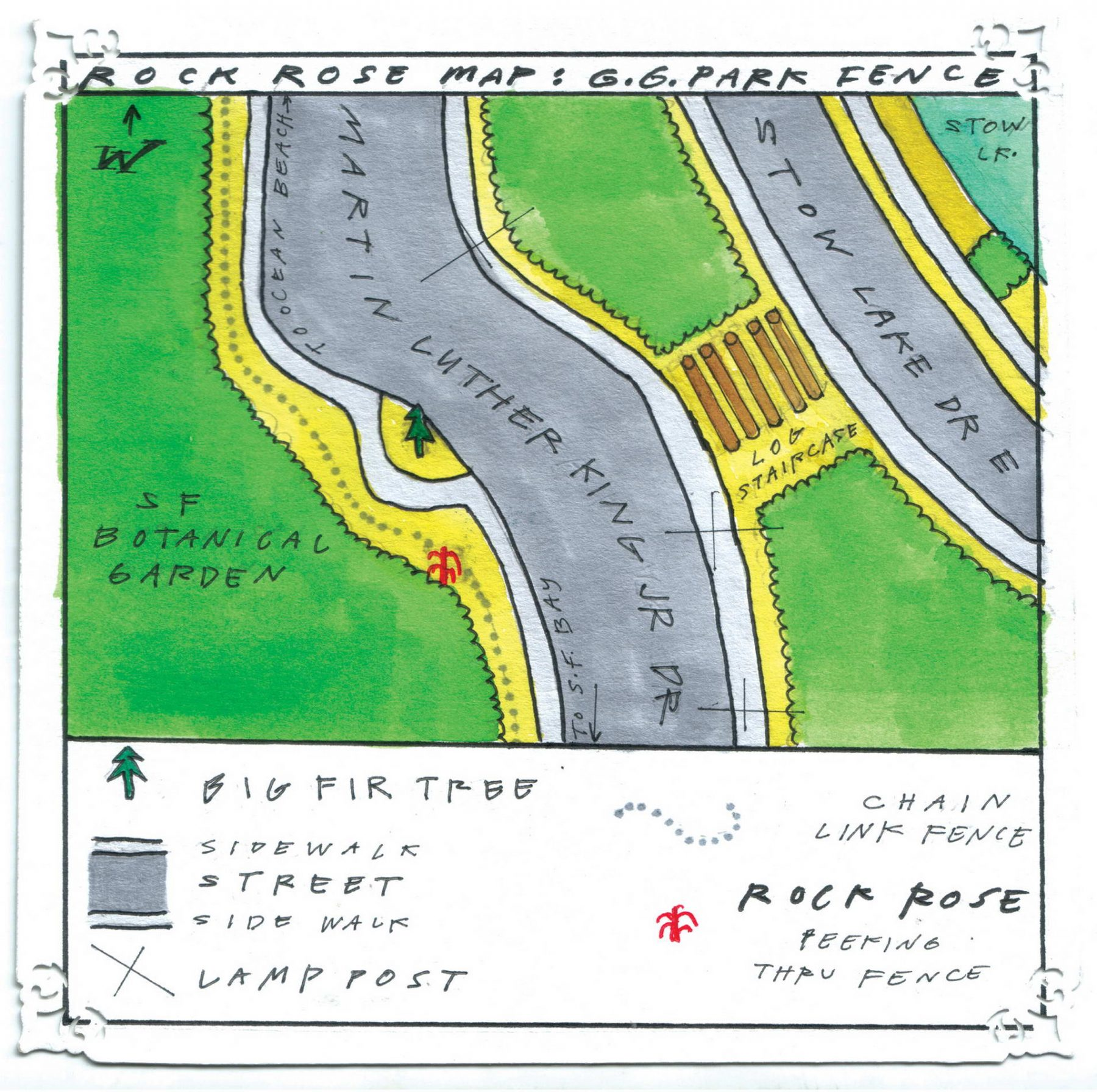 Rock Rose Map: MLK Drive